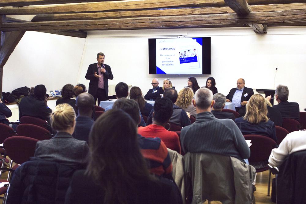 Afterwork de l'IEDRS pour présenter les avantages de la médiation. Schengen, Octobre 2016