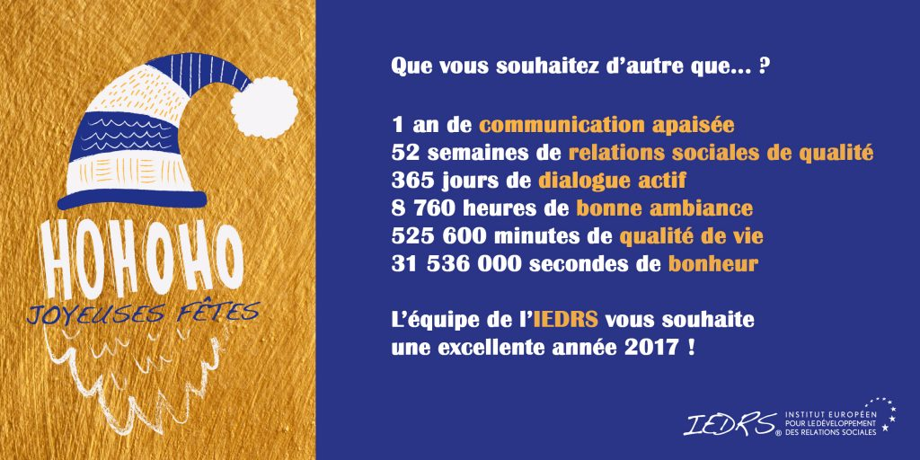 Carte voeux IEDRS 2017