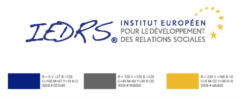 Charte graphique de l'IEDRS, Institut Européen pour le Développement des Relations Sociales