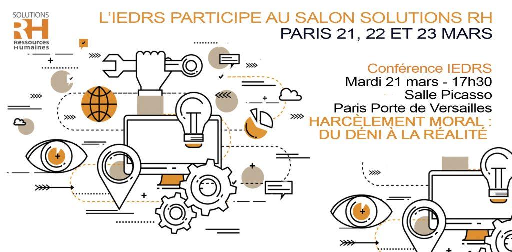 Conférence Harcèlement Moral au Travail - IEDRS- Paris