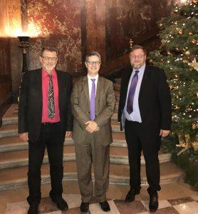 Les directeurs de l'IEDRS en réunion avec Franck Morel, conseiller social