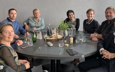 Dernier repas avec les stagiaires de Metz pour 2018!
